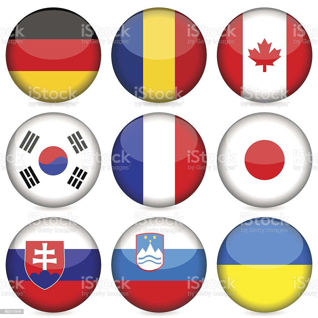 national flag icon set royalty-free national flag icon set stock vector art & more images of badge
