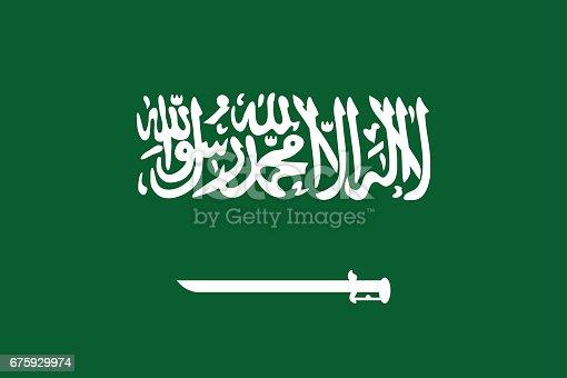 istock National flag Kingdom of Saudi Arabia. 675929974