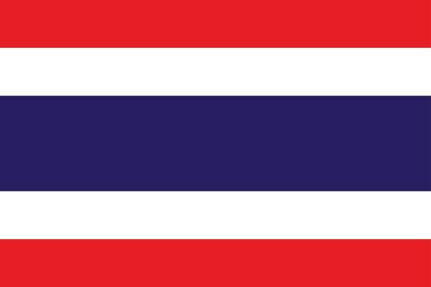 ilustraciones, imágenes clip art, dibujos animados e iconos de stock de bandera nacional reino de tailandia. - bandera tailandesa