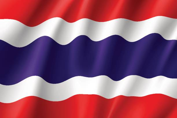 national flag kingdom of thailand. - thai flag stock illustrations, clip art, cartoons, & icons