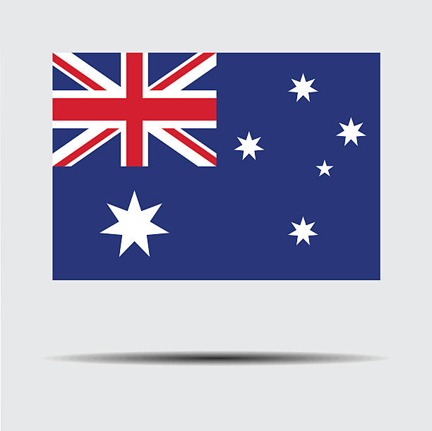 National flag of Australia vector art illustration