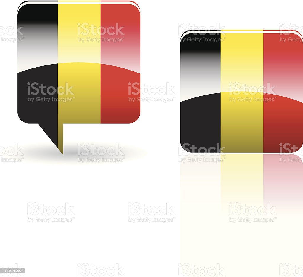 National Flag of Belgium royalty-free stock vector art