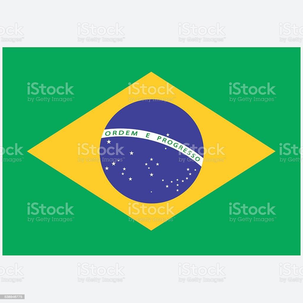 National flag of Brazil vector art illustration