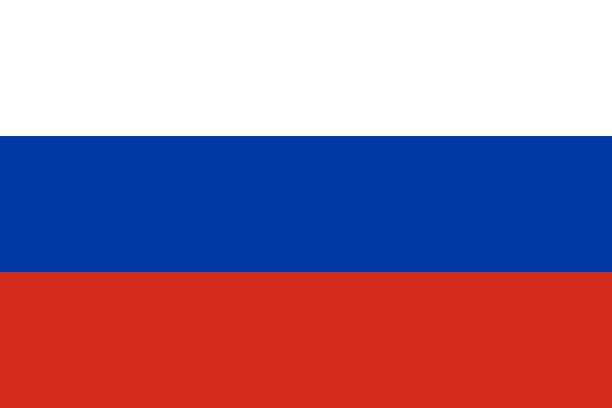 国ロシア (ホワイト、ブルー、レッドのカラー) の国旗 - ロシアの国旗点のイラスト素材/クリップアート素材/マンガ素材/アイコン素材
