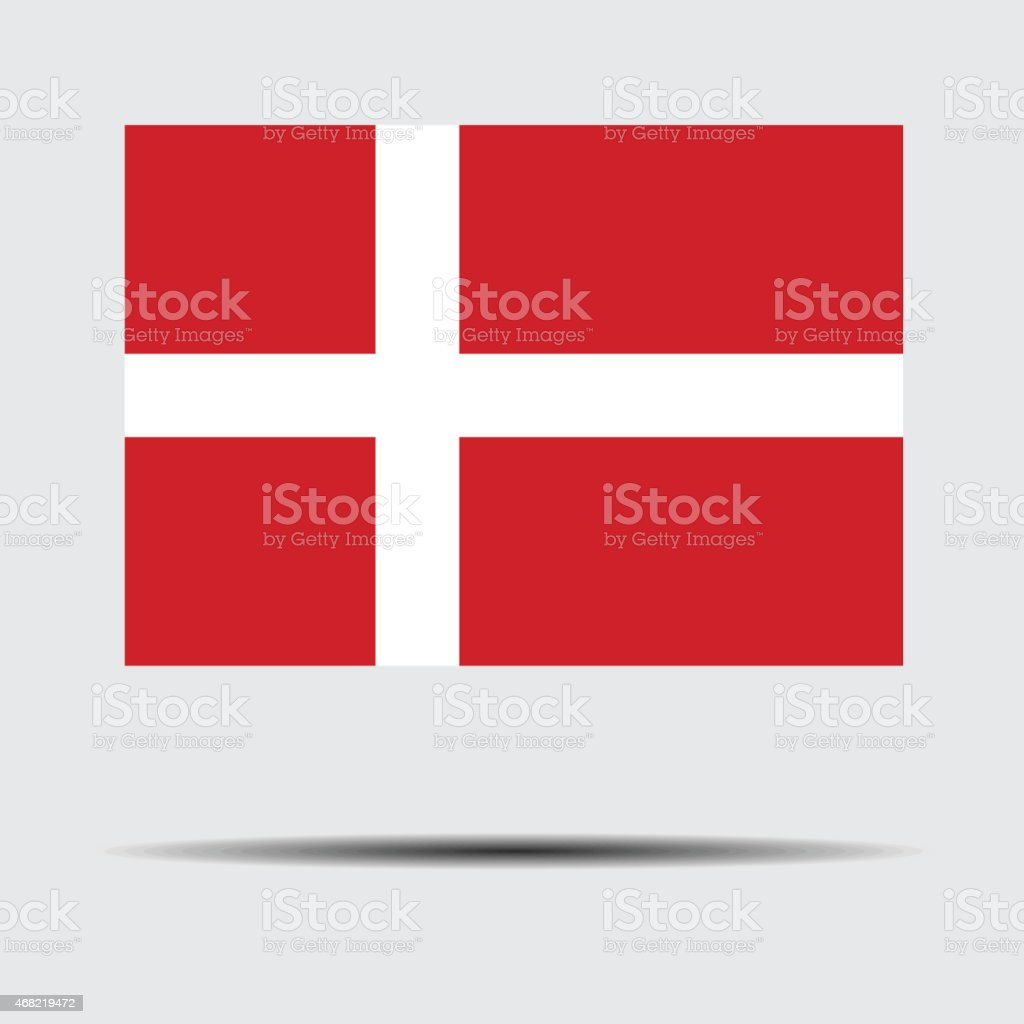 National flag of Denmark vector art illustration
