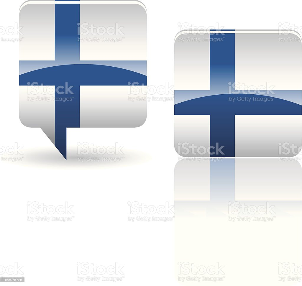 National Flag of Finland royalty-free stock vector art