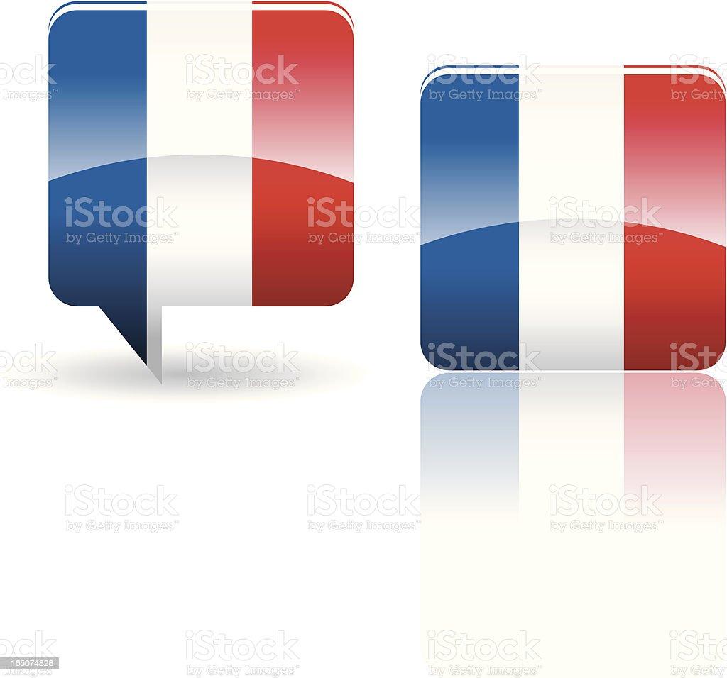 National Flag of France royalty-free stock vector art