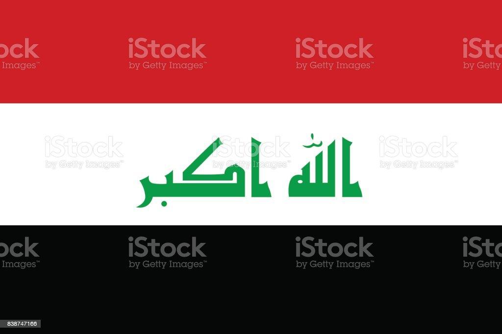 National flag of Iraq vector art illustration