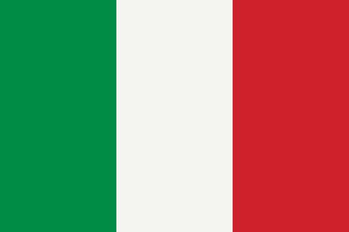 National flag of Italy original size and colors vector illustration, Italian flag or il Tricolore bandiera d'Italia, first tricolour cockade flag Italian Republic