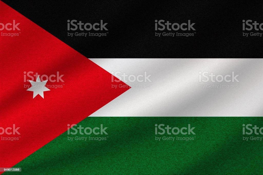 National Flag Of Jordan Stock Vector Art More Images Of Allegory