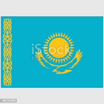 istock National flag of Kazakhstan 464794562