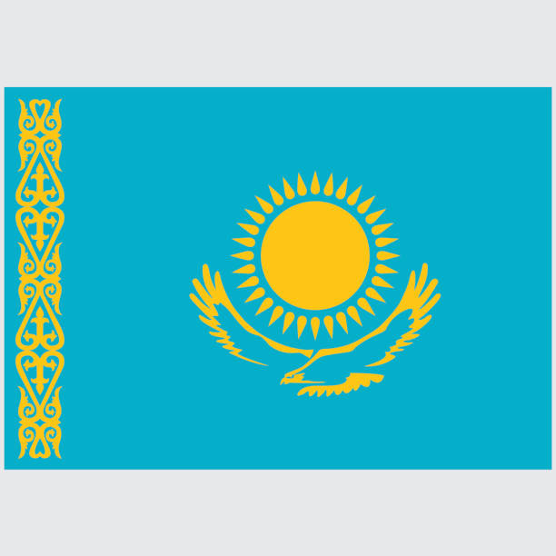 National flag of Kazakhstan National flag of Kazakhstan kazakhstan stock illustrations