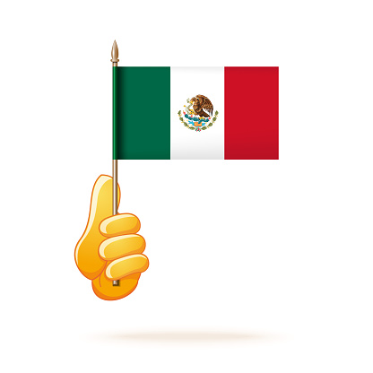 National flag of Mexico. Mexican tricolor icon