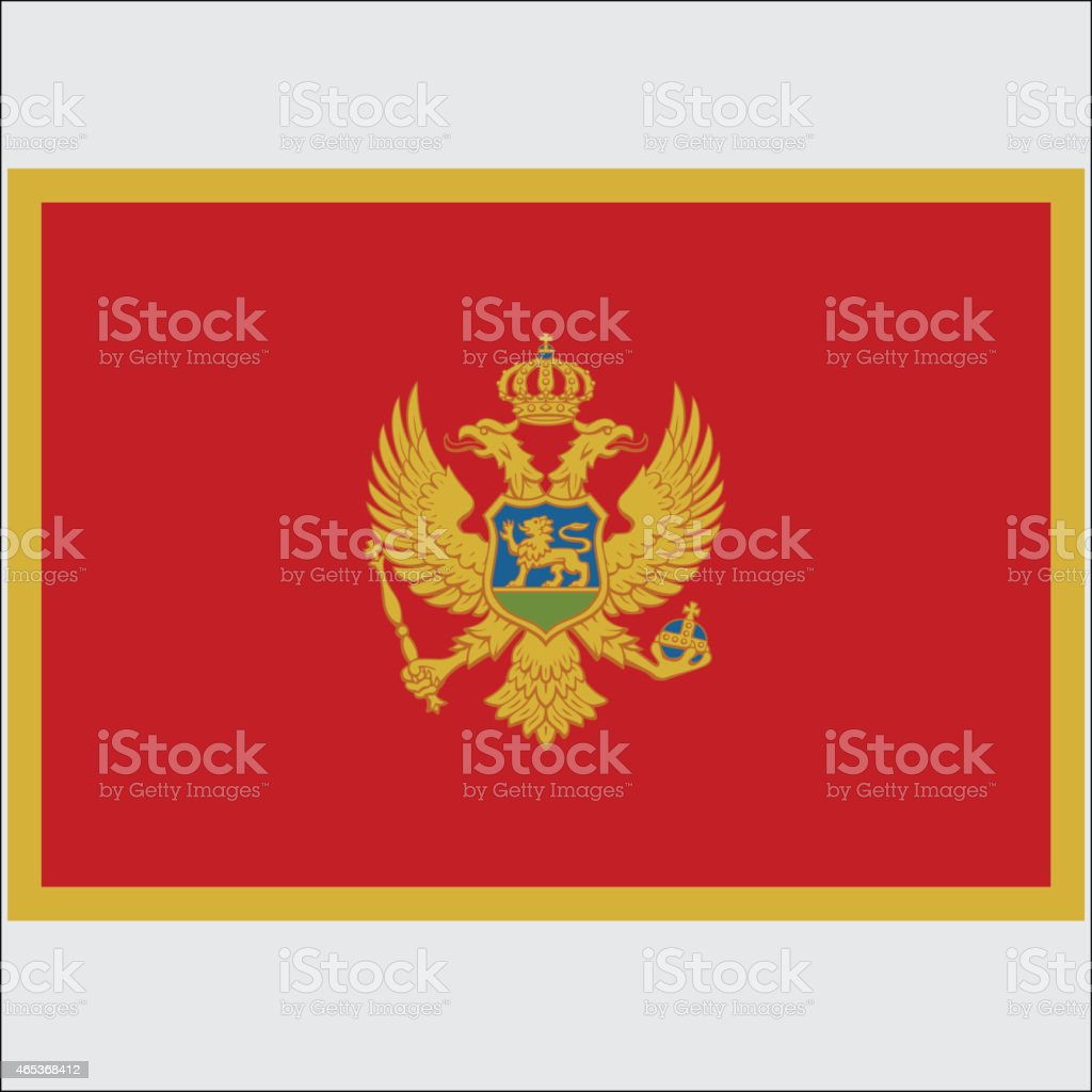 National flag of Montenegro vector art illustration