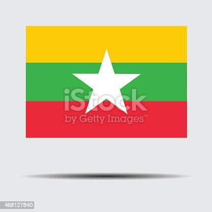 istock National flag of Myanmar 468127840