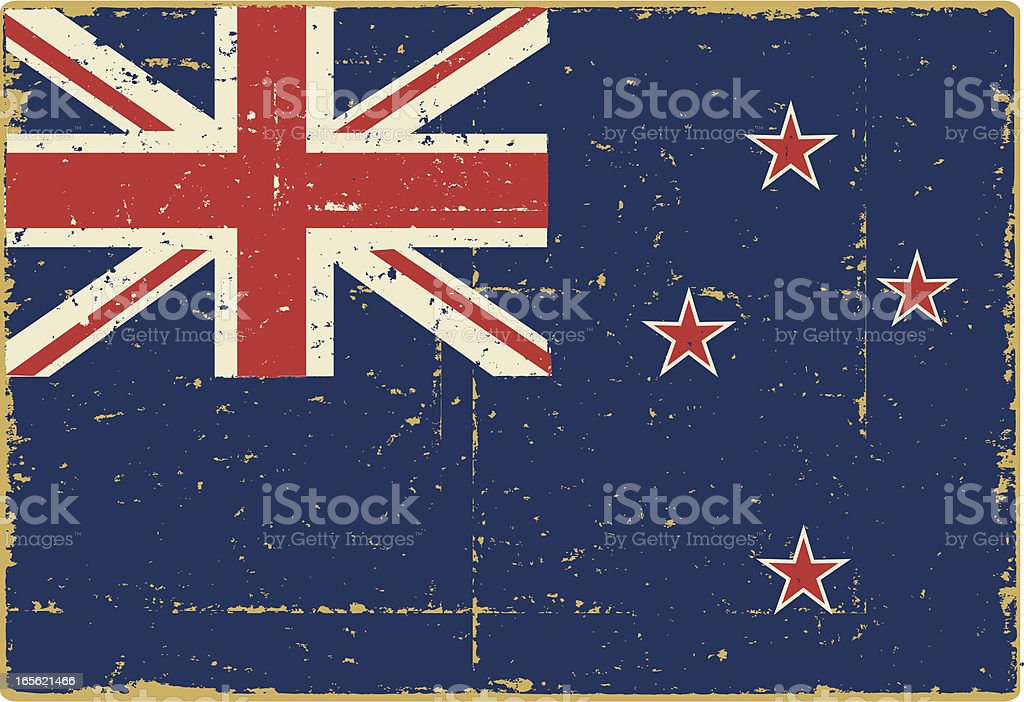 National Flag of New Zealand royalty-free stock vector art