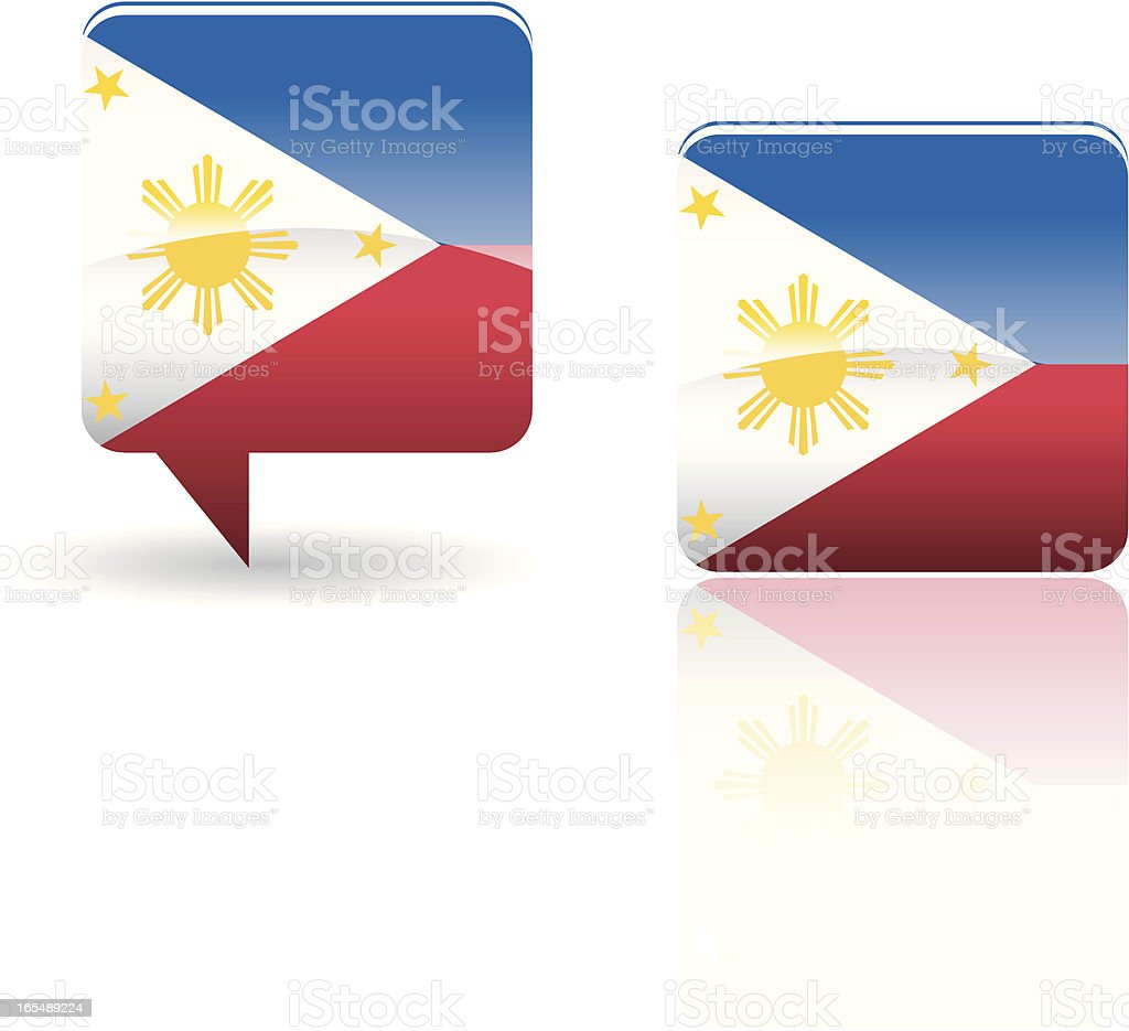National Flag of Philippine royalty-free stock vector art