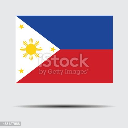 istock National flag of Philippines 468127866