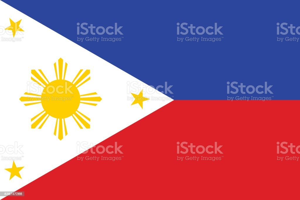 National flag of Philippines vector art illustration