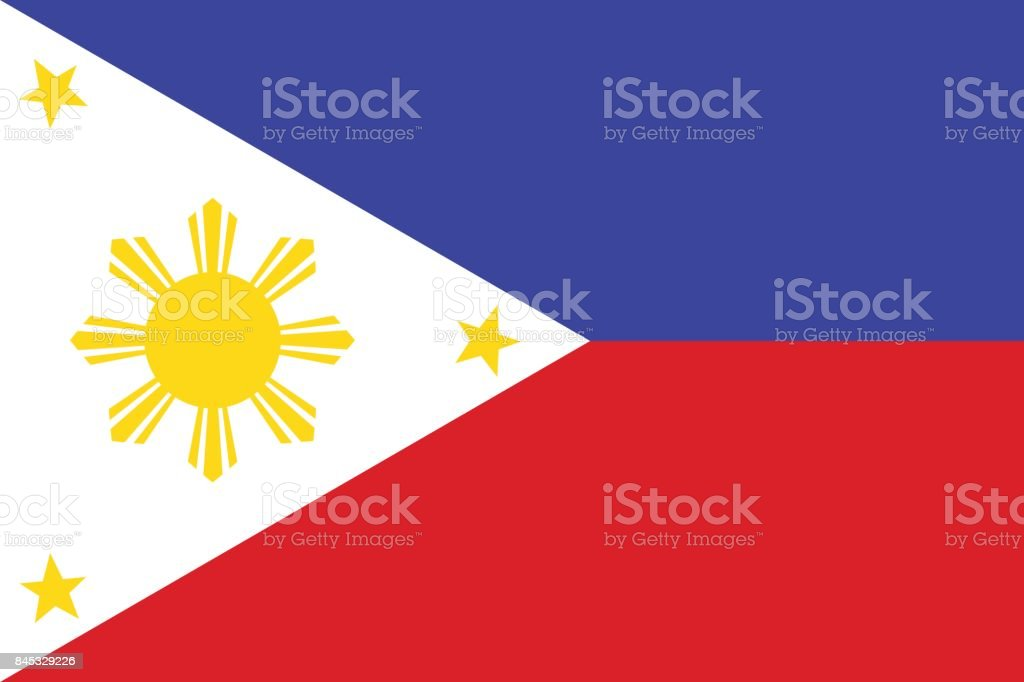 National Flag of Philippines. Vector illustration. vector art illustration