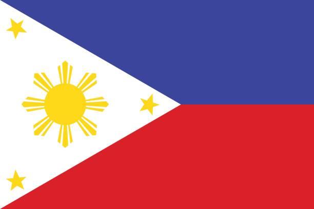 National Flag Of Philippines Vector Illustration Art