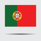Vector Illustration : National flag of Portugal