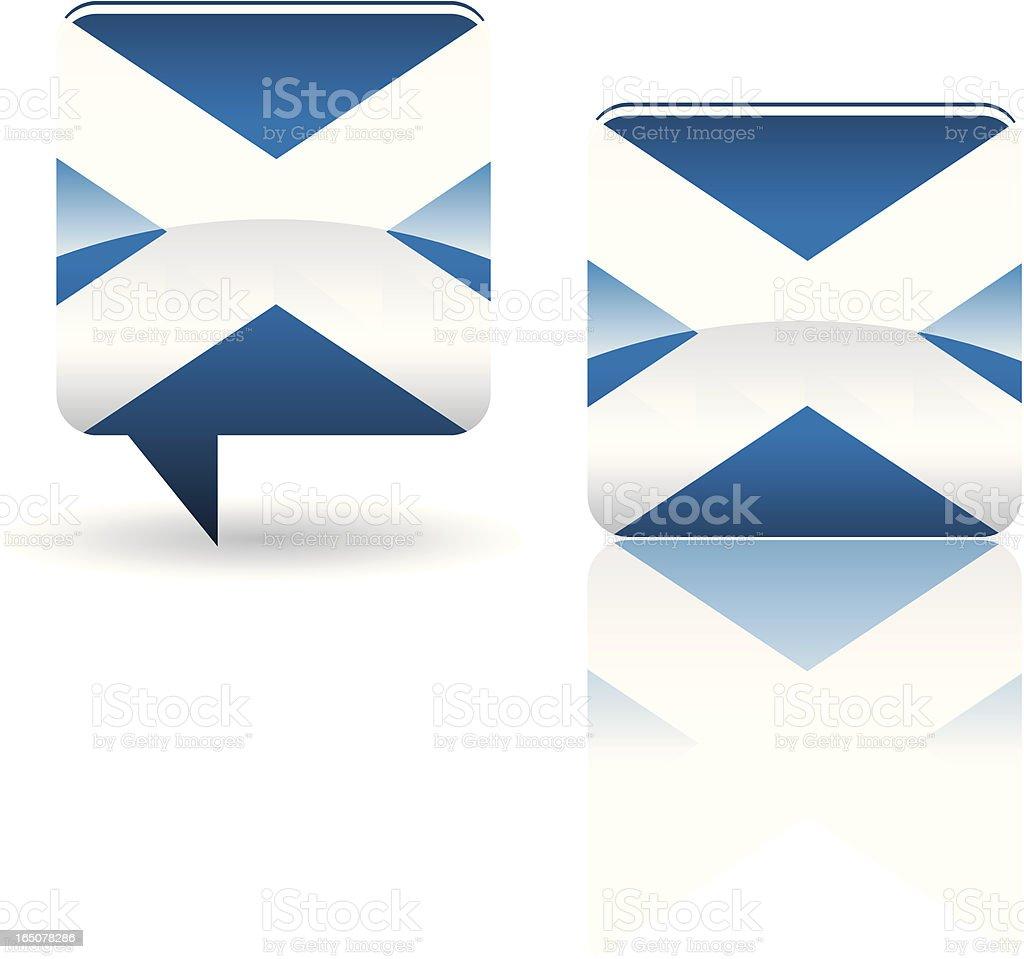 National Flag of  Scotland royalty-free stock vector art