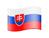 Waving flag of Slovakia isolated on white background