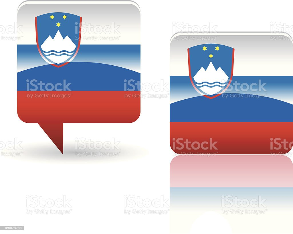 National Flag of  Slovenia royalty-free stock vector art