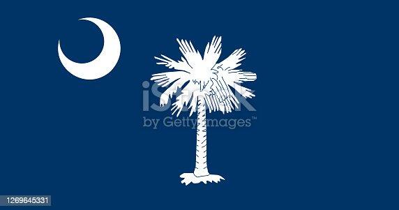 istock National flag of South Carolina, Vector illustration, Vector of South Carolina Flag. 1269645331