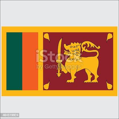 istock National flag of Sri-Lanka 464519924