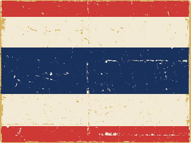 タイの国家フラグ ベクターアートイラスト