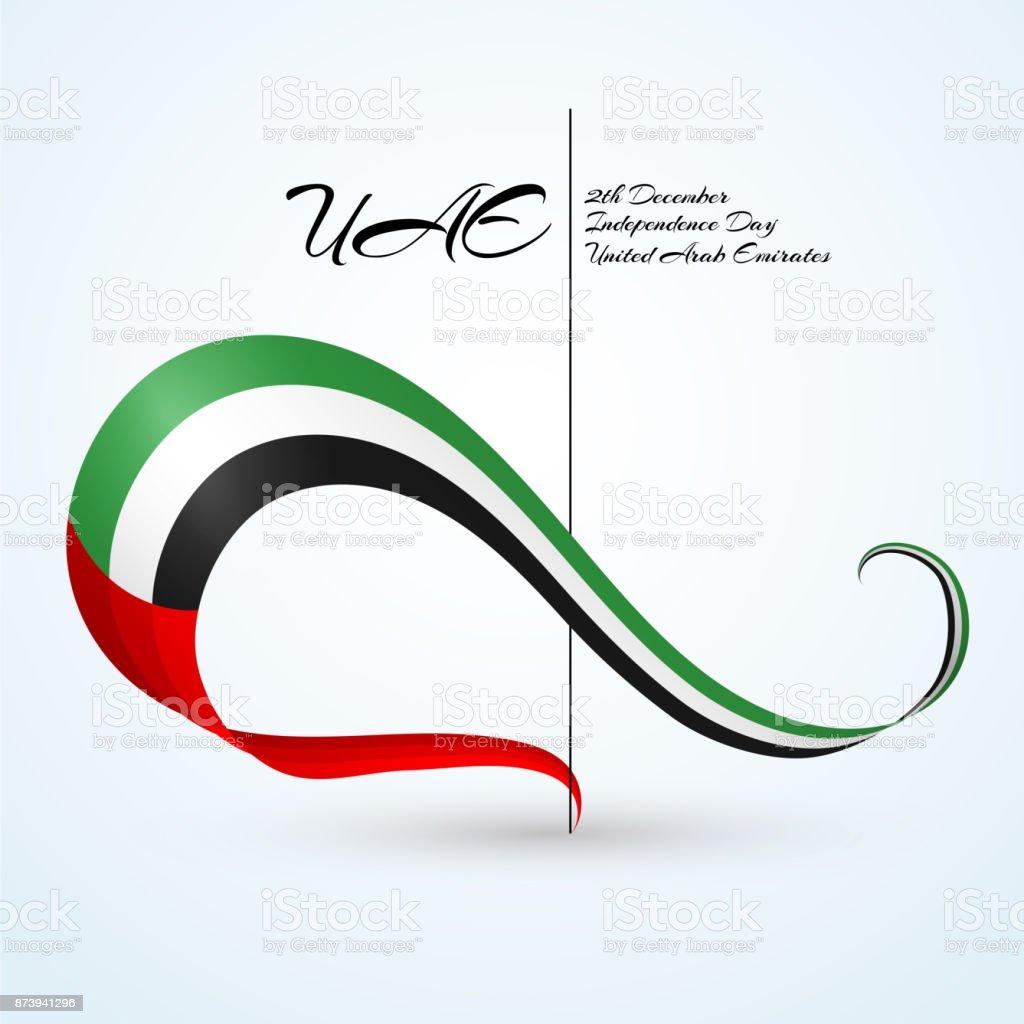 National flag of the united arab emirates ribbon of flag colors national flag of the united arab emirates uae ribbon of flag colors with text biocorpaavc Images