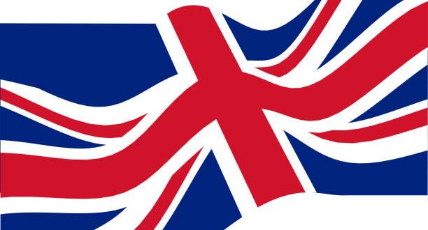 ilustrações, clipart, desenhos animados e ícones de bandeira nacional do reino unido que acena. - bandeira union jack