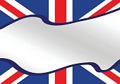 National flag of UK , the United Kingdom of Great Britain and Northern Ireland idea design