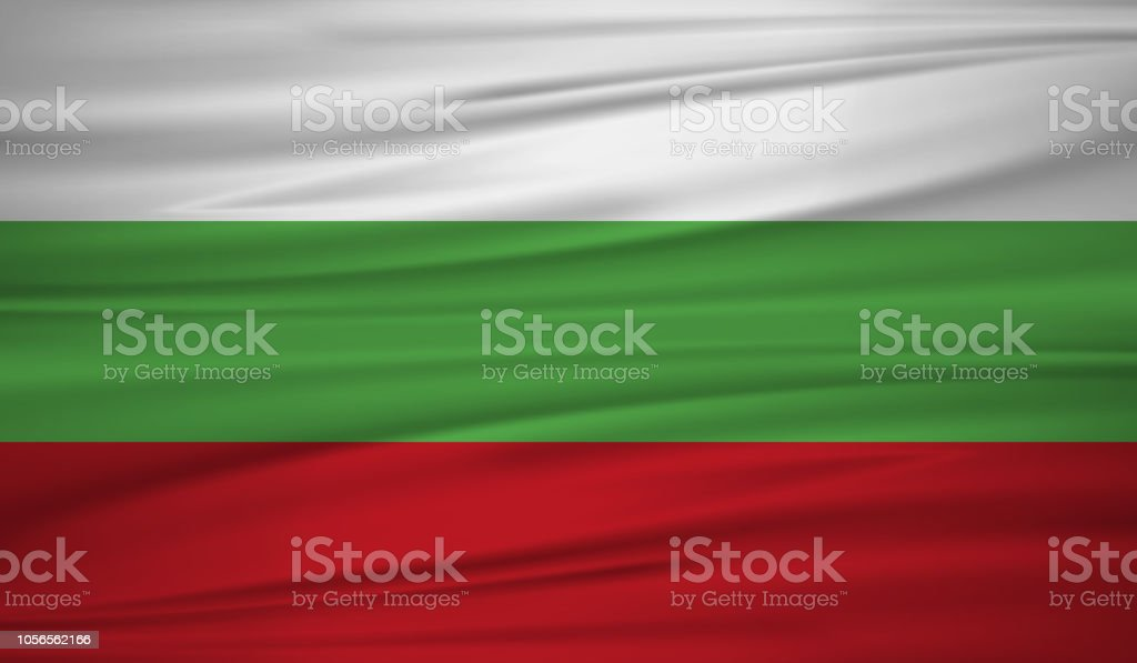 National Flag on silk texture blowing in the wind. vector. vector art illustration