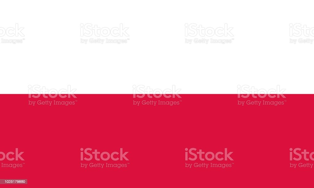 Nationalflagge Polen – Vektorgrafik