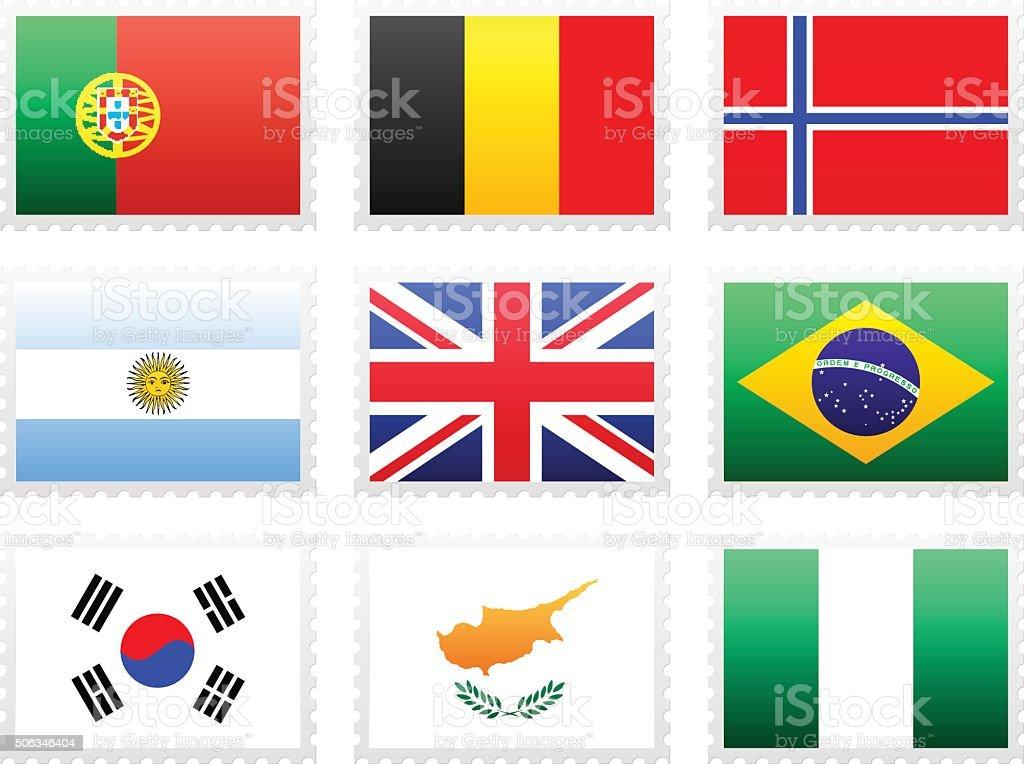 De Bandeira Nacional - ilustração de arte vetorial