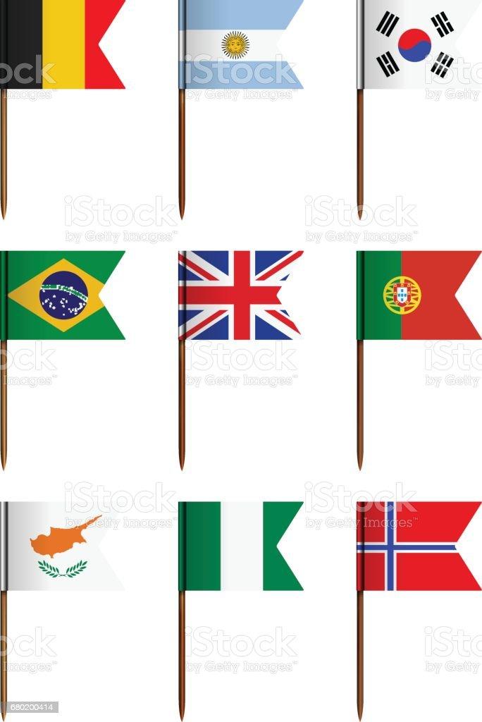 National flag set - ilustração de arte vetorial