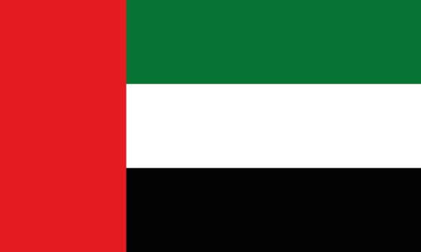 national flag united arab emirates - uae flag stock illustrations