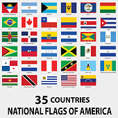 istock National Flags of America 489076824