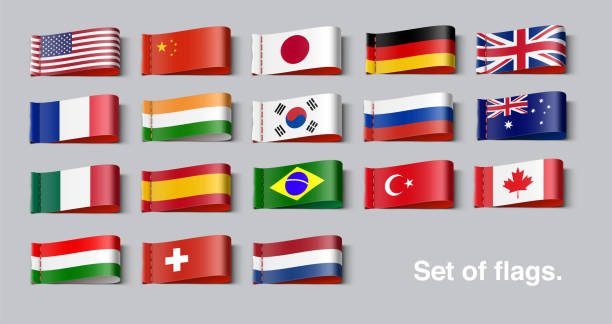 national flags of the world set. - białoruś stock illustrations