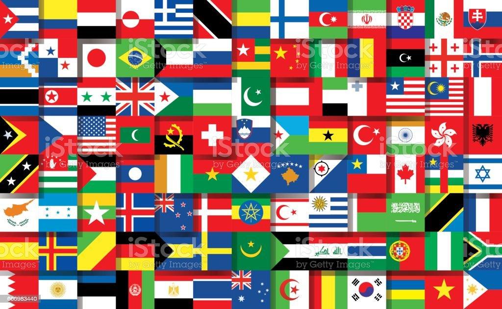 national Banderas - arte vectorial de Bandera Griega libre de derechos