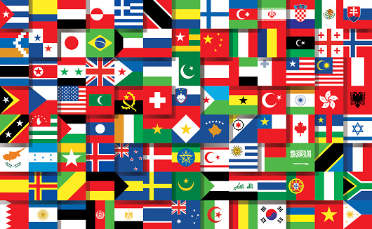 Ilustración de National Banderas y más Vectores Libres de Derechos de Bandera Griega