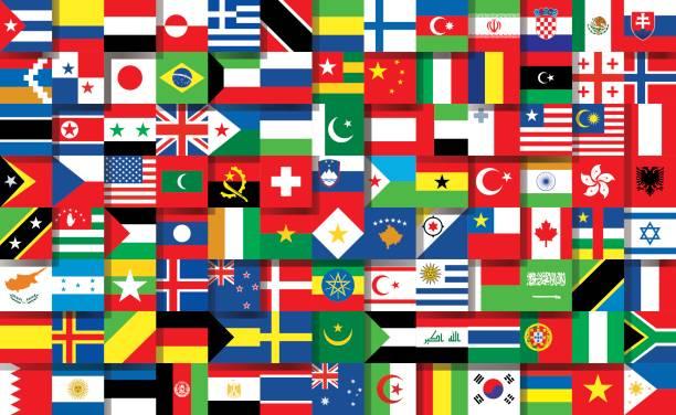 stockillustraties, clipart, cartoons en iconen met nationale vlaggen - nationale vlag