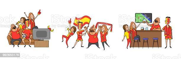 National football team supporters cheering at home in the bar set of vector id992653176?b=1&k=6&m=992653176&s=612x612&h=fxhk6tcsg1mmciac6ugx7cco7t 9k pqq 38r94rryw=