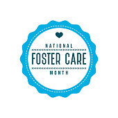 National Foster Care Month Label