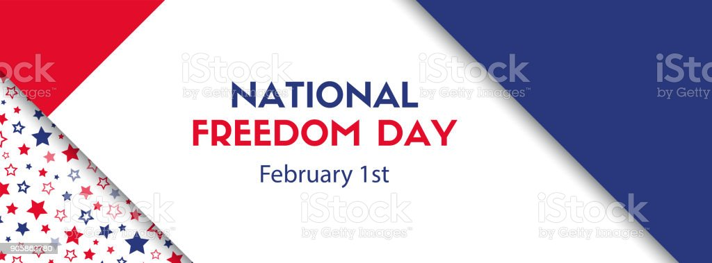 National freedom day. February 1. Vector banner vector art illustration