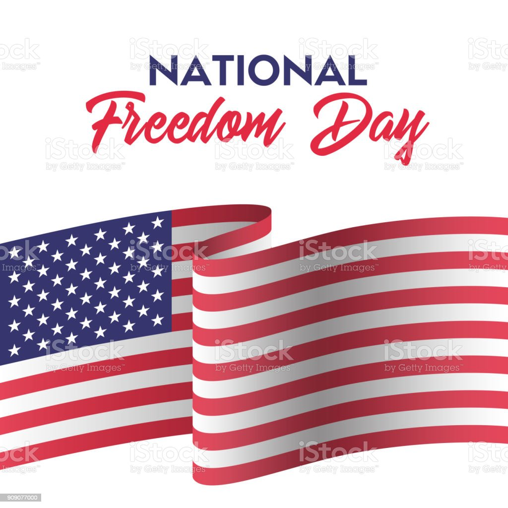 4b468bd2c77 USA national freedom day. Greeting card with american flag royalty-free usa  national freedom