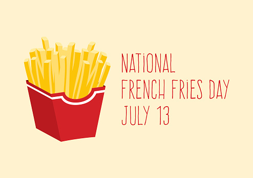 National French Fries Day vector